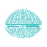 Doodles vector seashell Royalty Free Stock Photo