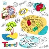 doodles wakacje ilustracja wektor