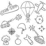 doodles wojna Zdjęcie Stock