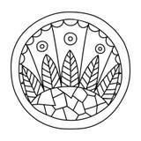 Doodles wypełniający okrąg royalty ilustracja