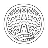 Doodles wypełniający okrąg ilustracji
