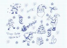 doodles xmas royalty ilustracja
