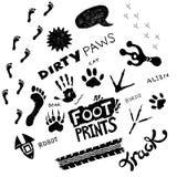 Doodles - zampe sporche Fotografia Stock