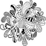 Doodles, zentangle, vector, illustration, pattern, freehand penc Stock Images