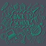 Doodling назад к школе Стоковое Изображение