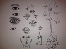 Doodling характеристики Стоковое Фото