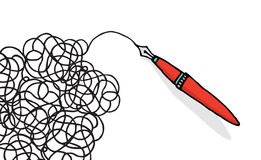 Doodling чертеж ручки иллюстрация штока