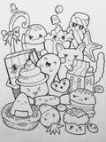 doodling stock de ilustración