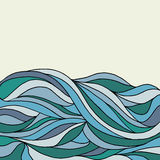 A doodling abstract wave background Stock Images