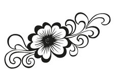 Doodling flower in tattoo style Stock Photography