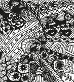 Doodling hand drawn patterns Stock Photo