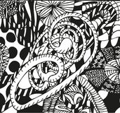 Doodling hand drawn patterns Stock Images