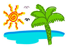 Doodling (The Sunrise Beach) Royalty Free Stock Photo