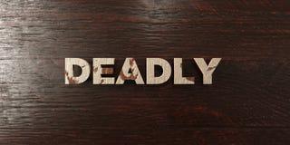 Doods - grungy houten krantekop op Esdoorn - 3D teruggegeven royalty vrij voorraadbeeld stock illustratie