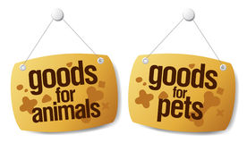 Doods for pets signs Royalty Free Stock Image