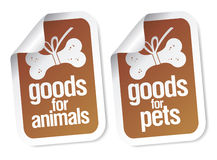 Doods for pets stickers Royalty Free Stock Image