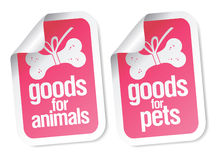 Doods for pets stickers Royalty Free Stock Images