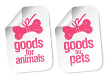 Doods for pets stickers Stock Photos