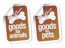 Doods voor huisdierenstickers royalty-vrije illustratie