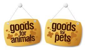 Doods voor huisdierentekens stock illustratie