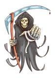 Doodsmaaimachine met zeis Het symbool van Halloween royalty-vrije illustratie