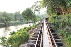 Doodsspoorweg Royalty-vrije Stock Foto