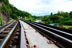 Doodsspoorweg Stock Foto