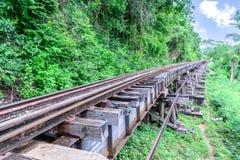 Doodsspoorweg, tijdens de Wereldoorlog II in Kanchanaburi Thailand Stock Afbeeldingen