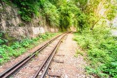 Doodsspoorweg, tijdens de Wereldoorlog II in Kanchanaburi Thailand Royalty-vrije Stock Afbeelding