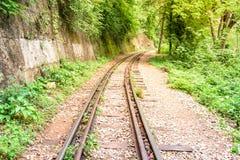Doodsspoorweg, tijdens de Wereldoorlog II in Kanchanaburi Thailand Royalty-vrije Stock Foto's