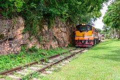 Doodsspoorweg, tijdens de Wereldoorlog II in Kanchanaburi Thailand Royalty-vrije Stock Afbeeldingen