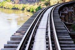 Doodsspoorweg, tijdens Wereldoorlog II, Kanchanaburi Thailand wordt gebouwd dat Royalty-vrije Stock Foto's