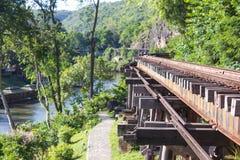 Doodsspoorweg, Wereldoorlog II, Kanchanaburi Stock Foto