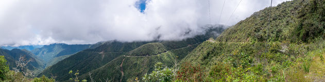 Doodsweg in Bolivië Stock Afbeelding