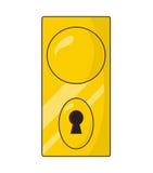 Dooe knob, handle vector symbol icon design. Royalty Free Stock Image