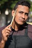 Doof erwachsener männlicher Chef Or Cook lizenzfreie stockfotos
