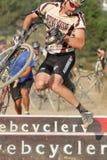 Doof Gesicht im Cyclocross Rennen Stockfoto