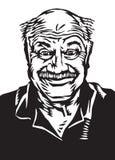 Doof glücklicher älterer Kerl Stockbilder