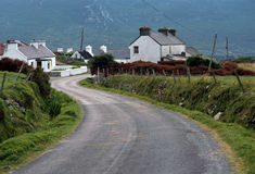 Doogort village in Achill island - Ireland Royalty Free Stock Images