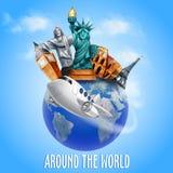 dookoła świata Royalty Ilustracja