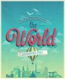 Dookoła świata plakat Fotografia Royalty Free