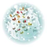 Dookoła świata (zimy sceneria) ilustracji