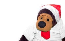 Dool de singe de Gorlila dans le concept de Noël Photographie stock libre de droits