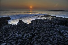 Doolin beach, county clare, ireland. Photo breathtaking sunset over doolin beach, county clare, ireland, hdr Royalty Free Stock Photo