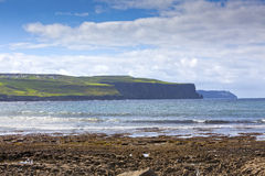 Doolin's Bay Beach, Ireland. Cliffs of Doolin's Bay, The Burren, County Clare, Ireland Stock Images