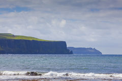 Doolin's Bay Beach, Ireland. Cliffs of Doolin's Bay, The Burren, County Clare, Ireland Stock Photos