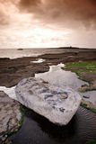 Doolin Shore. Doolin's coast at sunset Royalty Free Stock Photography