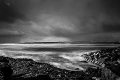 Doolin Storm Clouds. The storm clouds rolling in from the Atlantic Stock Photo