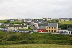 Doolin Village, co. Clare, Ireland. Colourful houses in the Doolin Village, County Clare, Ireland Royalty Free Stock Photos