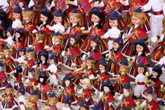 Dools avec des costumes typiques de la Madère Photo stock